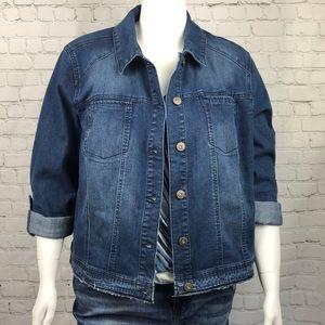 Style & Co Medium Blue Denim Jean Jacket Size 22W